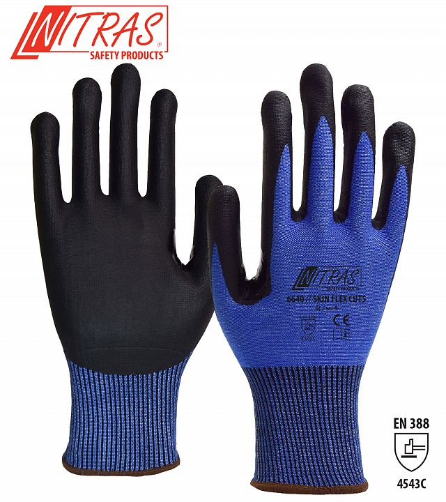 Rękawice ochronne NITRAS® SKIN FLEX CUT 5