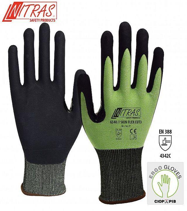 Rękawice ochronne NITRAS® SKIN FLEX CUT 3